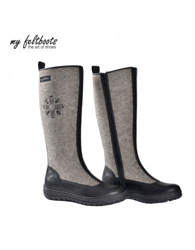 winter boots, felt shoes, winter shoes, felt boots, wool boots, women tall boots