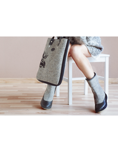 wool boots, ankle shoes online, felt shoes