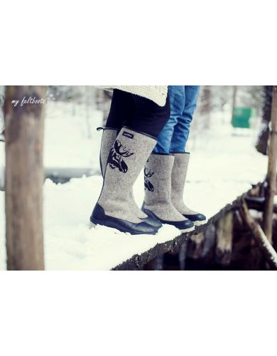 felted boots, wool felt boots, wool boots, my feltboots