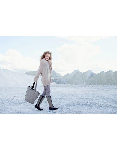 overnight bag, woollen bag, shoulder bag for women, weekend travel bag, felt tote bag