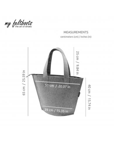 women handbag, oversized travel tote, weekender bag, wool felt bag, shopper, my feltboots