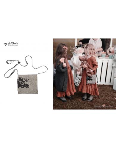 Toddler Purse, Kids Messenger Bag, Felt Bag, Moose, Toddler Bag, Kids Handbags