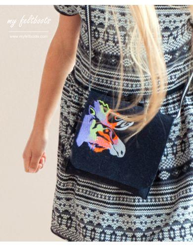 wool purse, felt bag