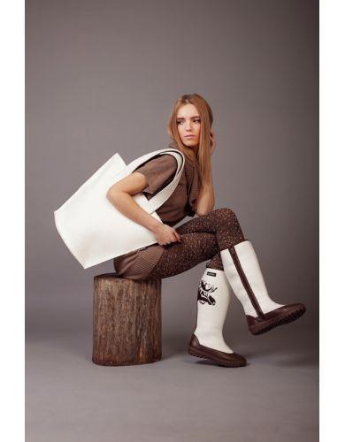 wool felt bag, shoulder bag, shopper, women tote bag, tote, my felt boots, tote bag