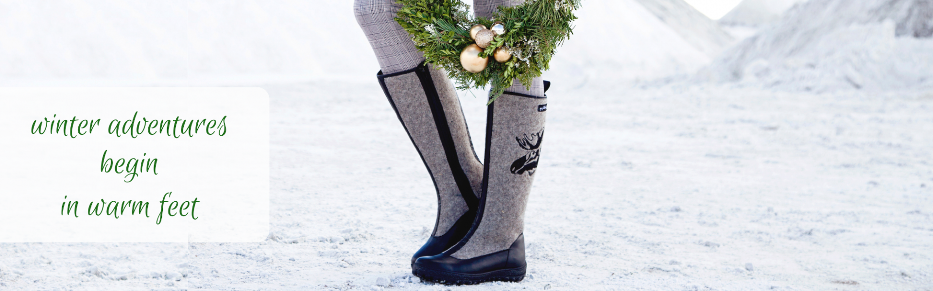 warm up your feet with felt boots
