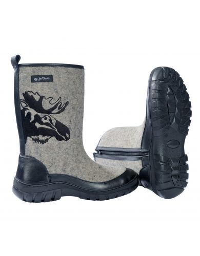 winter boots, snow boots, valenki, felt boots, my feltboots, boots for men, embroidered shoes, Moose