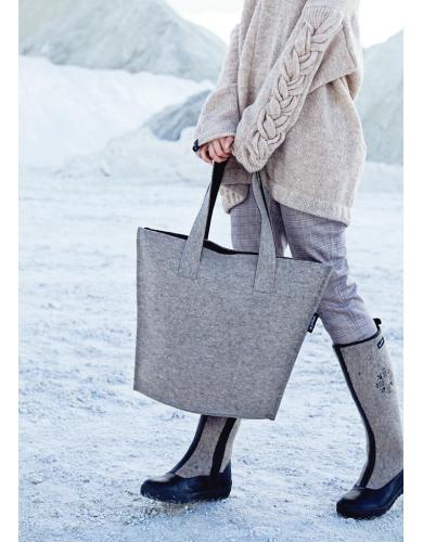 wool bag, felt handbag, weekend travel bag, overnight bag, everyday shoulder bag
